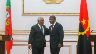 António Costa e João Lourenço na visita oficial do primeiro-ministro português a Angola