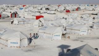 Um dos campos das Nações Unidas na Síria