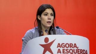 A deputada do BE, Mariana Mortágua, durante a XI Convenção Nacional do Bloco de Esquerda, a 10 de Novembro de 2018