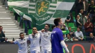 O Sporting venceu facilmente na Champions de futsal