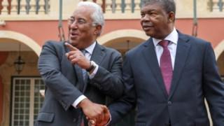António Costa em Luanda, com João Lourenço
