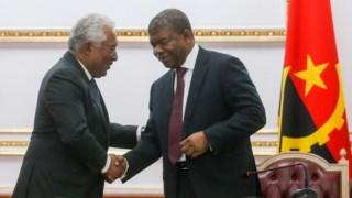 António Costa com João Lourenço, durante a visita do primeiro-ministro português a Angola