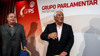 Carlos César e António Costa nas Jornadas parlamentares em Portimão
