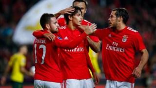 João Félix marcou um dos golos do Benfica frente ao Paços de Ferreira