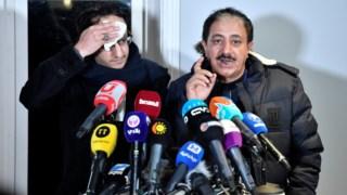 Participantes nas negociações sobre a guerra no Iémen, em Rimbo, perto de Estocolmo