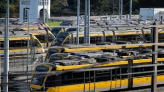 A Metro do POrto tem uma frota de 70 veículos que opera em seis linhas