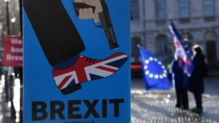 Manifestação pró-UE nas imediações de Westminster (Londres)