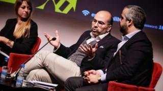 Sofia Afonso Ferreira (Democracia 21), Miguel Pinto Luz (PSD) e João Gonçalves Pereira (CDS-PP)