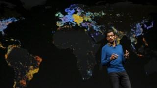 Sundar Pichai, CEO do Google, é um dos visados pelas queixas contra a alegada protecção dada a gestores de topo acusados de assédio sexual