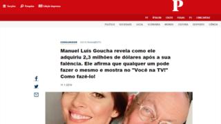 A página com informação falsa pretende passar por uma notícia do PÚBLICO