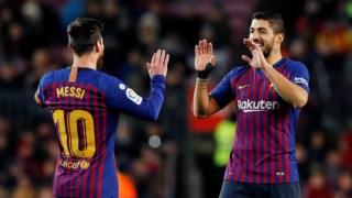 Messi e Suaréz, um golo para cada um em mais uma vitória do Barcelona