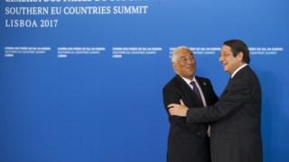 António Costa e Nicos Anastasiades encontraram-se há um ano em Lisboa aquando da realização da cimeira em Portugal.