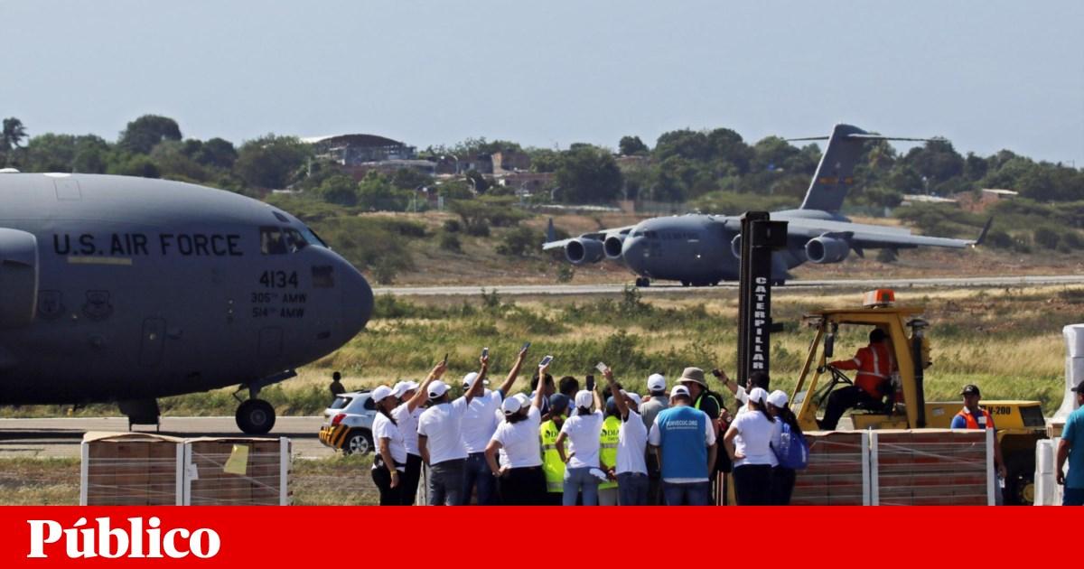 Aviões norte-americanos aterraram na Colômbia para ajuda humanitária à Venezuela