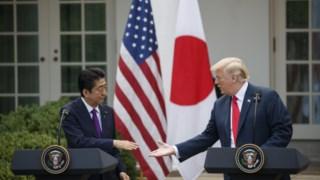 Abe com Trump, no Verão de 2018