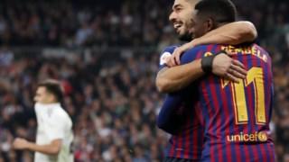 Dembelé e Suárez, os homens do jogo