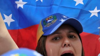 Protesto contra Maduro, em Bogotá, a 25 de Fevereiro