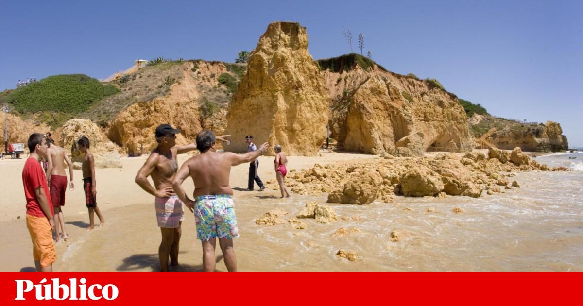 No Algarve rochoso, há risco elevado de derrocada em 30% das praias