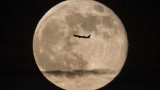 Uma super-Lua em Nova Iorque