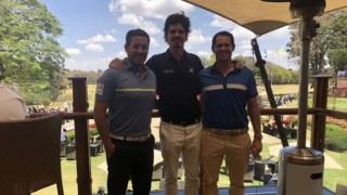 Filipe Lima, Pedro Figueiredo e Ricardo Melo Gouveia juntos em Nairobi © D.R.