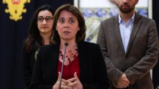 Catarina Martins esteve na sessão promovida pelo BE que decorreu no parlamento, em Lisboa
