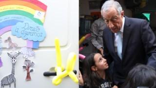 Marcelo Rebelo de Sousa na inauguração da nova sede do Instituto de Apoio à Criança