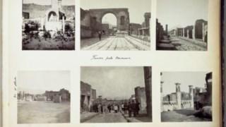 Fotografias da visita da rainha D. Amélia a Pompeia, em 1903
