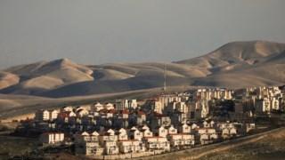 Um colonato israelita na Cisjordânia