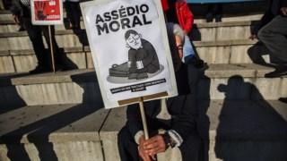A luta de Cristina Tavares tem passado muito por acções de rua, com o apoio dos sindicatos