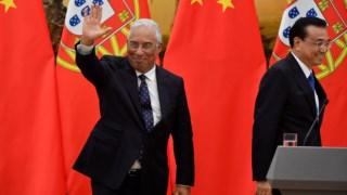 António Costa acompanhado pelo primeiro-ministro chinês, Li Keqiang