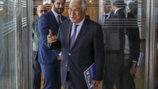 António Costa e Tiago Brandão Rodrigues voltaram nesta segunda-feira à antiga sede do Ministério da EDucação