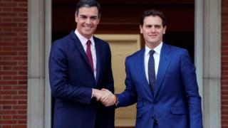Pedro Sánchez e Albert Rivera