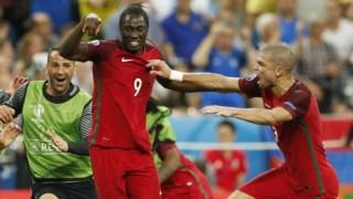 Momento da final do Euro 2016, entre Portugal e França