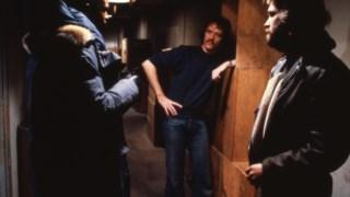 Keith David, John Carpenter e Kurt Russell na rodagem de <i>Veio do Outro Mundo</i>