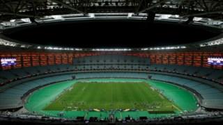 A UEFA que o Estádio Olímpico de Baku esteja muito longe da lotação esgotada.