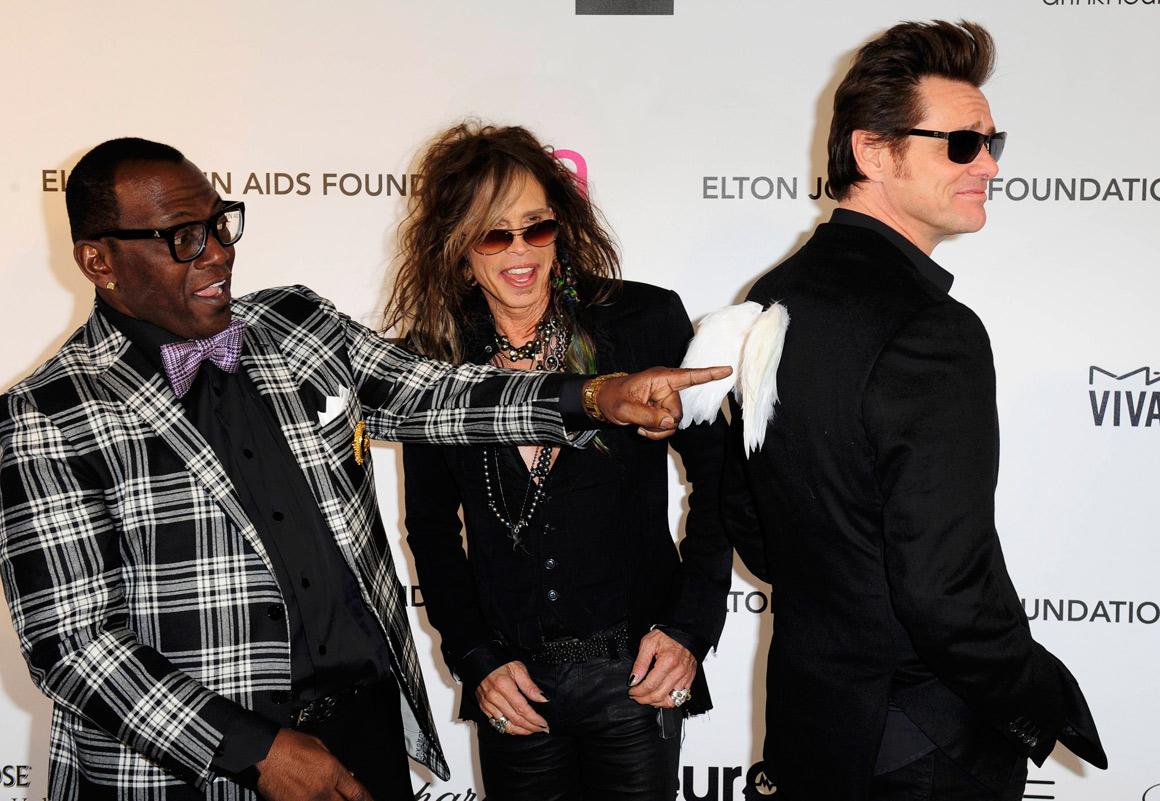 Randy Jackson, Steven Tyler e Jim Carrey