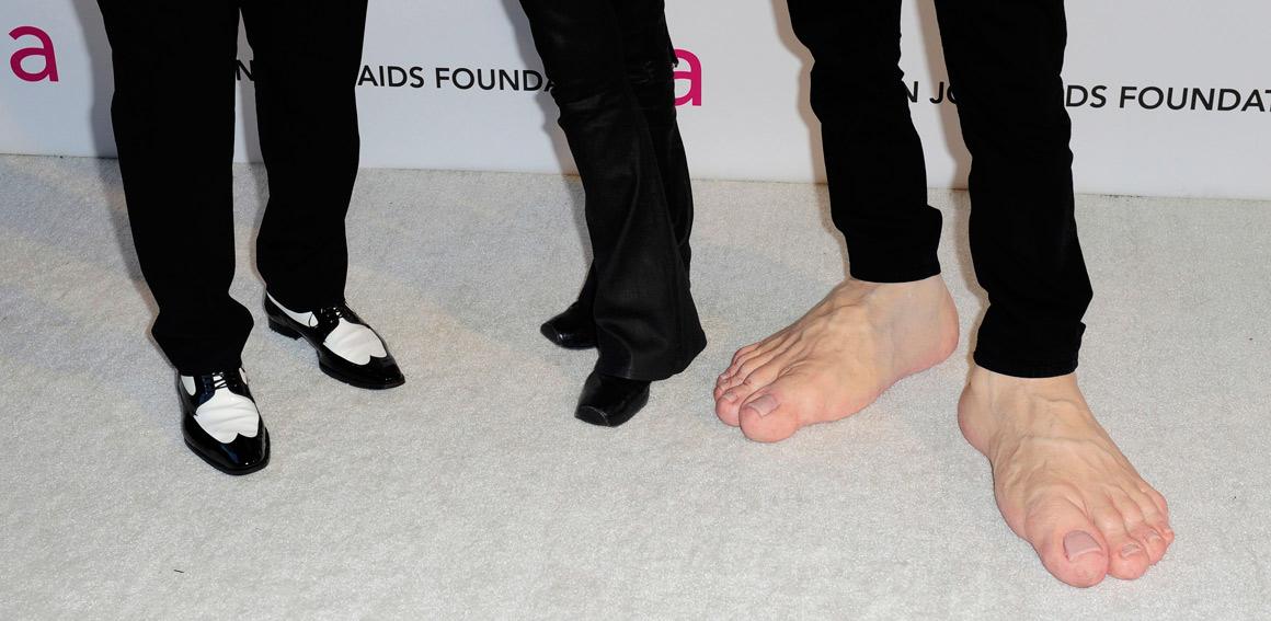 Os sapatos de Randy Jackson, Steven Tyler e Jim Carrey