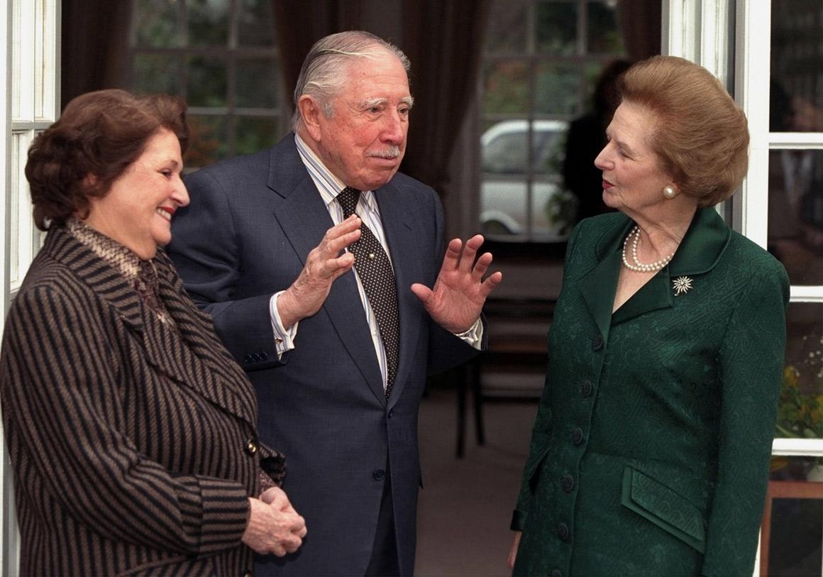 Muitas atitudes suas, porém, suscitaram polémica, como o apoio ao ex-ditador chileno Augusto Pinochet, enquanto esteve em prisão domiciliária em Londres, em 1999