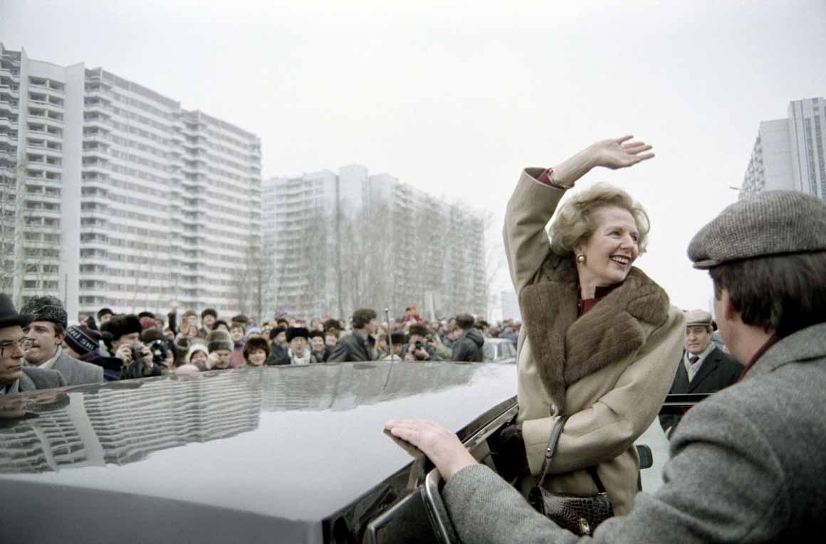 Em Moscovo em 1987: a queda do Muro de Berlim, dois anos mais tarde, reforçaria a necessidade da construção europeia, matéria que dividiu os conservadores britânicos