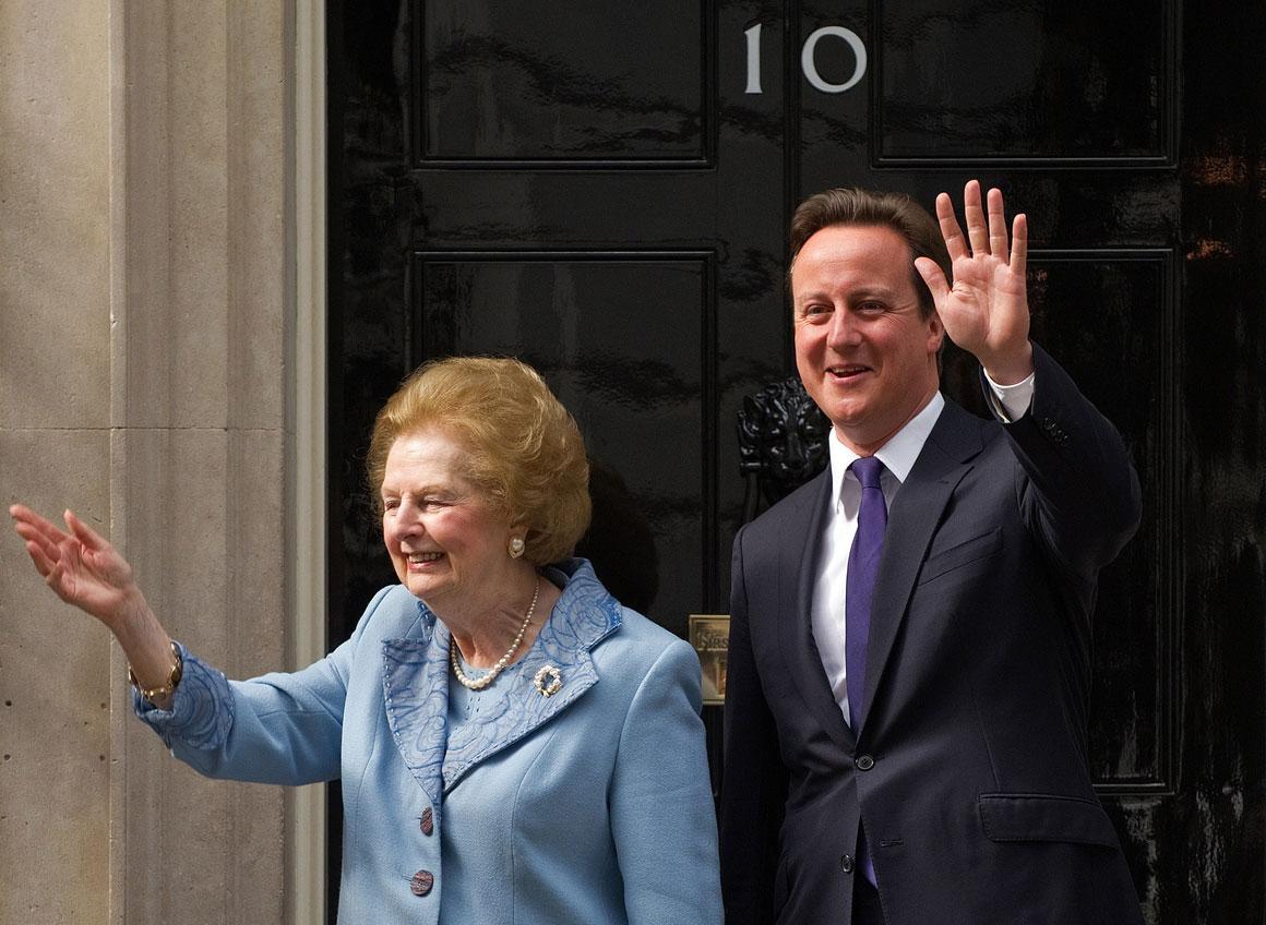 E com o actual primeiro-ministro, David Cameron, numa foto de 2010