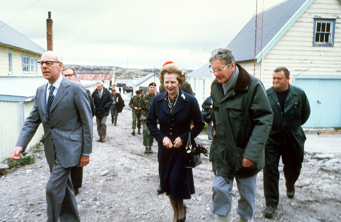 Nas ilhas Falkland, região que motivou um guerra com a Argentina