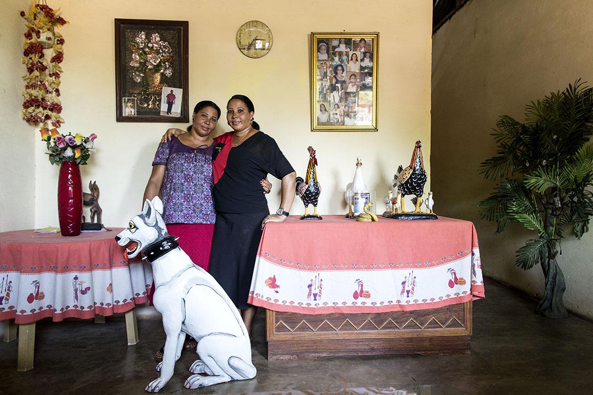 As gémeas Higina e Teresa Silva contam que o pai esteve colocado no quartel de Bula