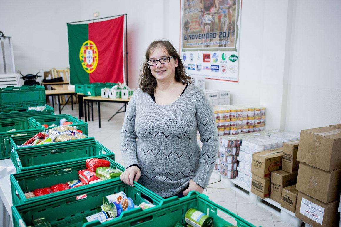 Sara Horta, 30 anos, beneficiária do banco alimentar