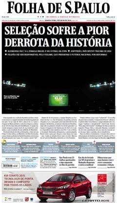PÚBLICO - Mineiraço: As capas dos jornais brasileiros