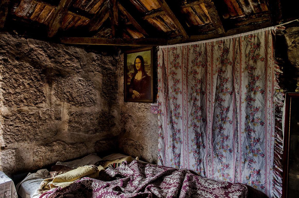A cópia de Mona Lisa na casa de Olga