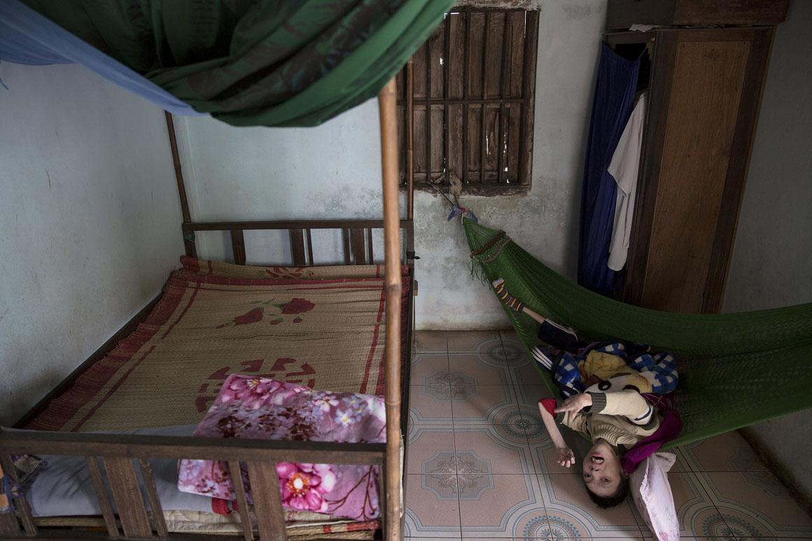 O pai de Phan Van Lam não foi pulverizado pelo Agente Laranja mas viveu em áreas afectadas pelo mesmo