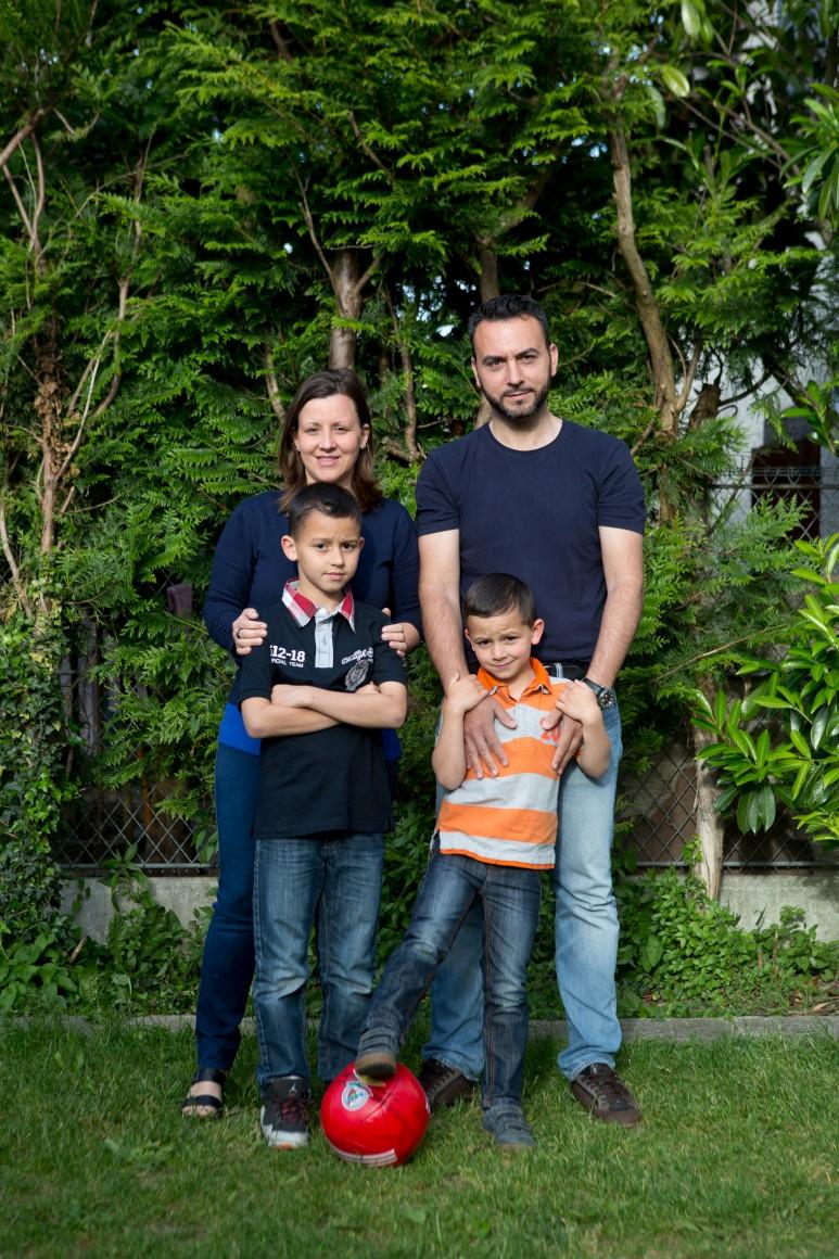 Sónia Lopes, filha de portugueses, com a família