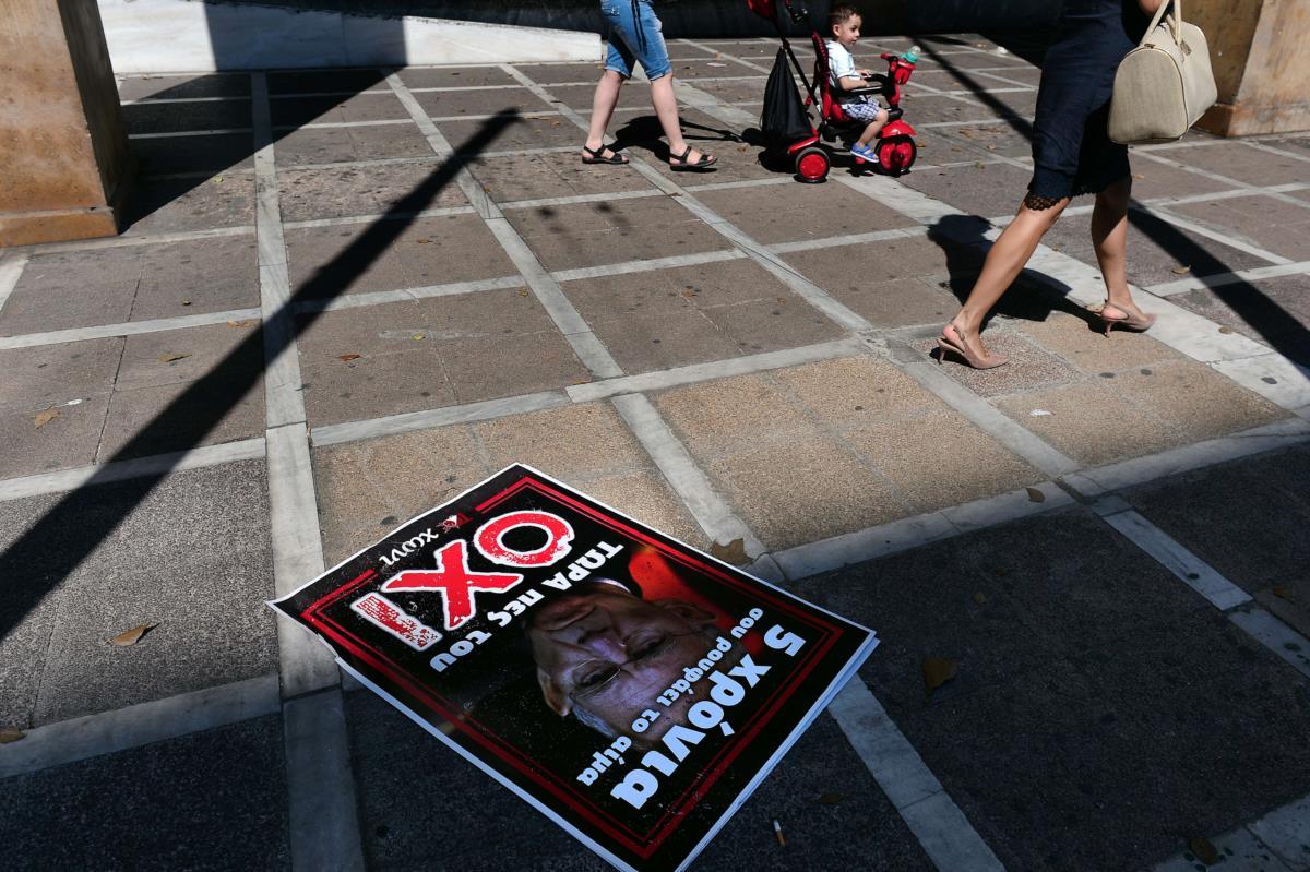 """Um cartaz de apoio ao """"não"""""""