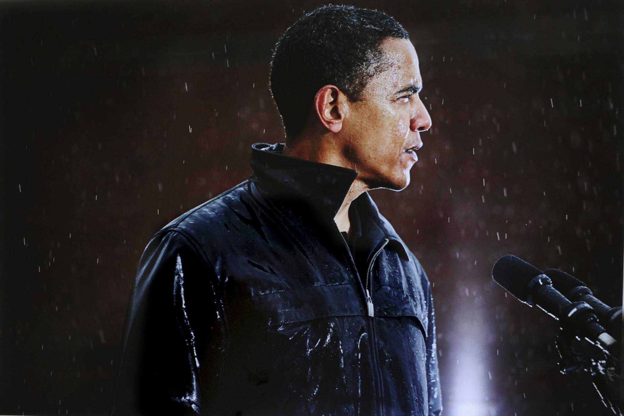 A fotografia de Barack Obama à chuva valeu a Damon Winter do New York Times o prémio Pulitzer em 2009