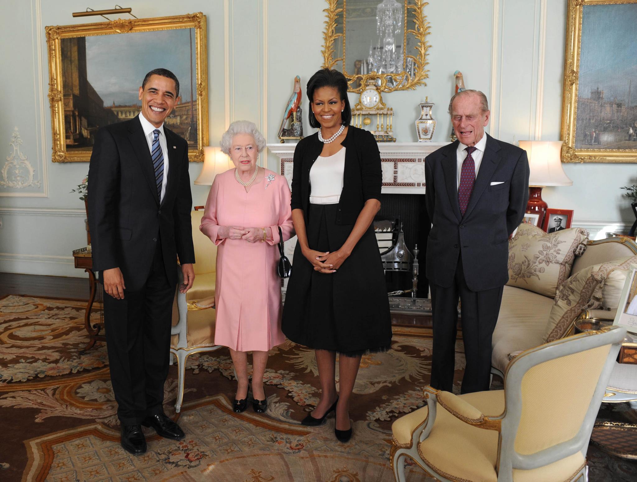 Barack e Michelle Obama em 2009 no palácio de Buckingham, em Londres, 2009