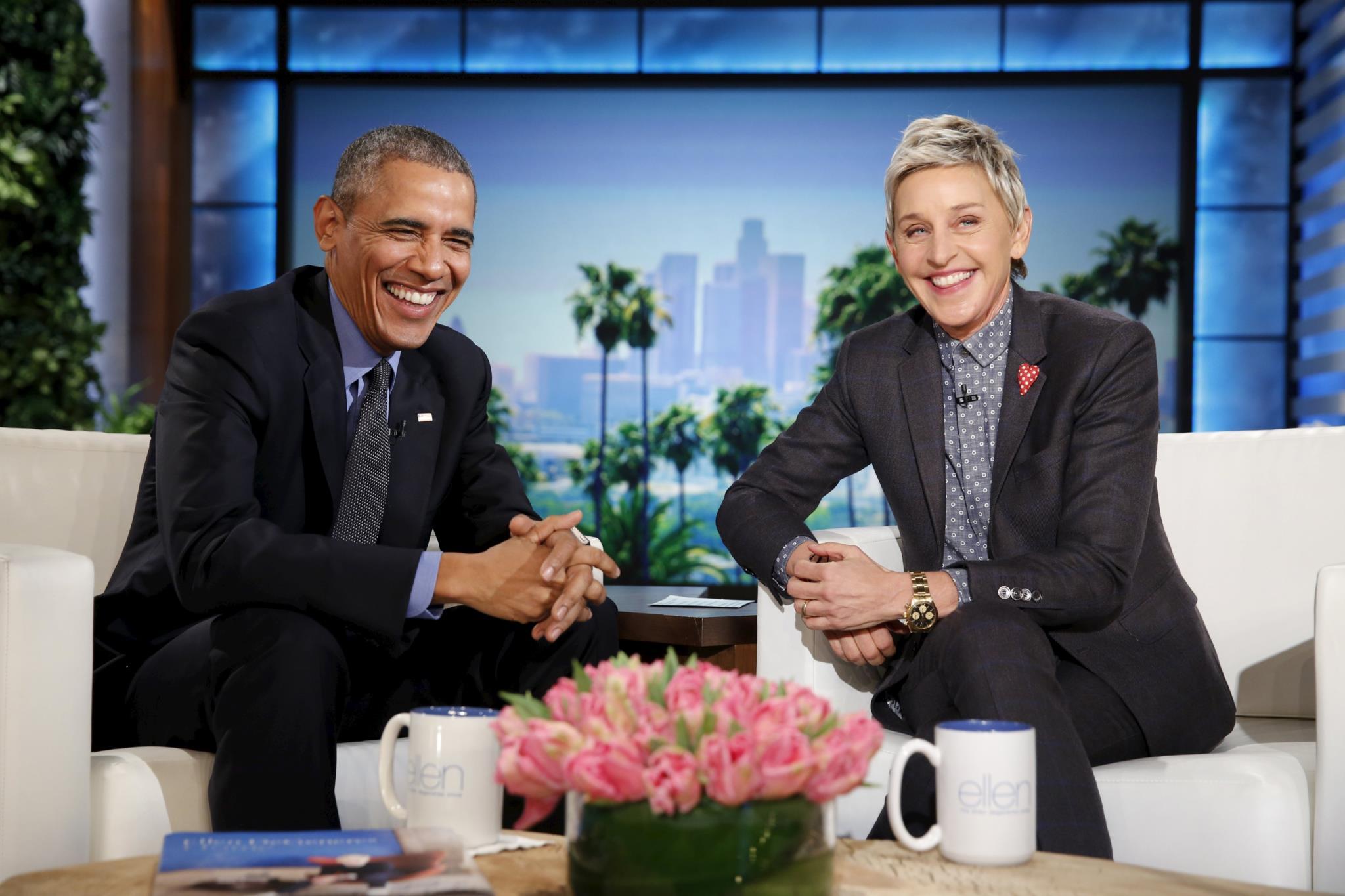 Obama no programa televisivo da comediante e apresentadora Ellen Degeneres, 2016